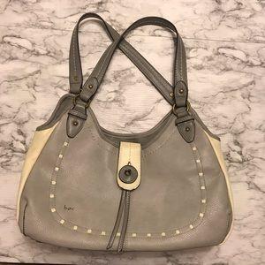 Boc shoulder bag•grey/cream•EUC•multiple pockets